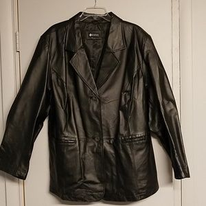 NWOT NEVER WORN! Maggie Barnes Genuine Leather Jac